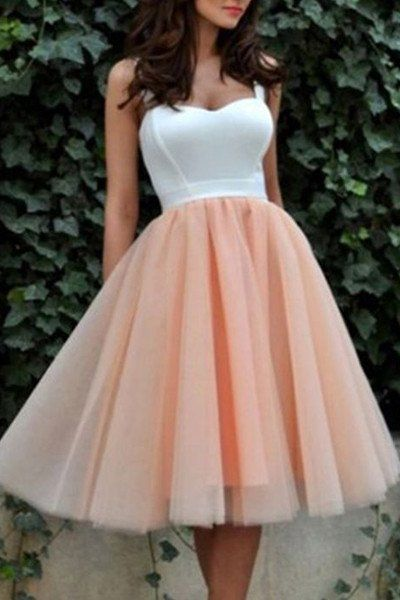 New  White Pale Pink Short Prom Gowns Homecoming Dresses Party Dress  S312
