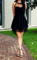 Black Homecoming Dress,Tulle Homecoming Dresses,Homecoming Gowns,Party Dress,Short Prom Gown,Strapless Homecoming Dresses,Cheap Formal S340