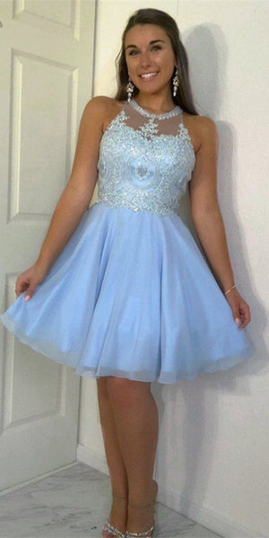 Halter Chiffon Beadings Short Homecoming Dress Custom Made Cute Cocktail Party Dress Fashion Short School Dance Dresses S360