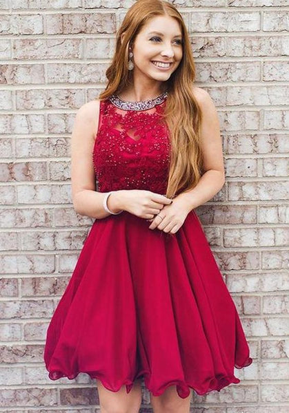 Homecoming Dress  Short Prom Dress, Back to School Party Dance Dress S432