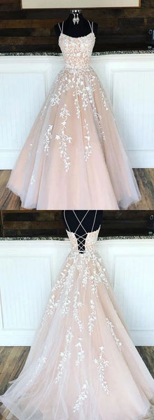 Custom made tulle lace long prom dress, evening dress  S4461