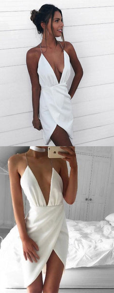 Sexy Homecoming Dress,homecoming Dresses,white Homecoming Dress,homecoming Dress  S453