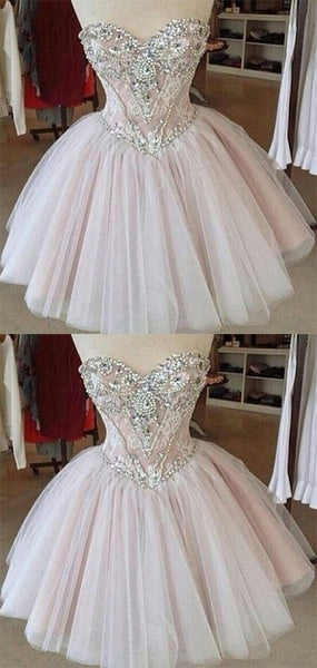 Homecoming Dress,Tulle Homecoming Dresses,Lace Homecoming Gowns,Cute Party Dress,Short Prom Dress,Elegant Sweet 16 Dress S466