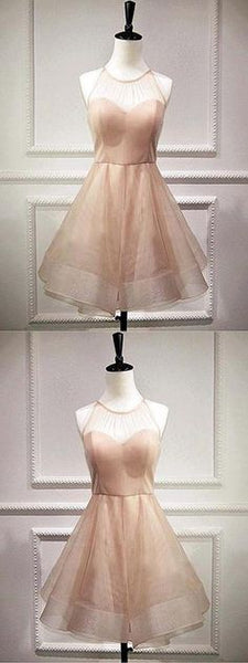 Delightful Homecoming Dress A-Line, Champagne Homecoming Dress  S479