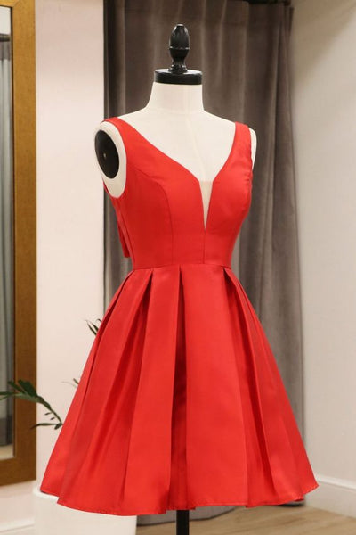 Red A-line Homecoming Dress S14666