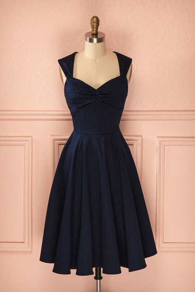 Dark Navy Short Homecoming Dress S22770