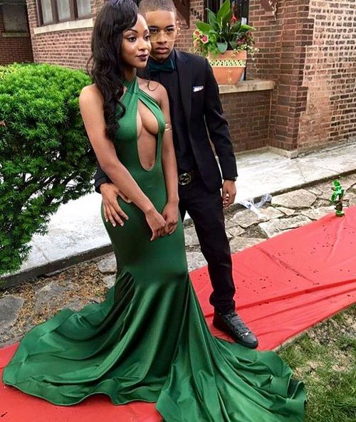Green Mermiad Long Prom Dress, Sexy Porm Dress S16636