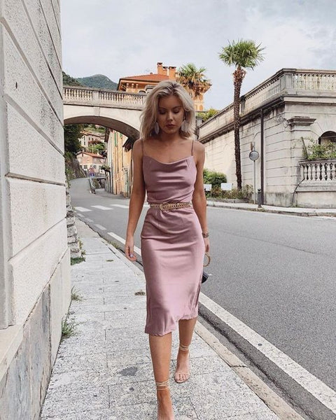 Spaghetti Short Homecoming Dress , Silk Party Dress S17592