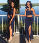 Two Pieces Lace Prom Dress,Prom Dress,Modest Evening Gowns, S14119