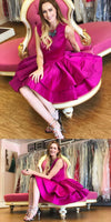 Princess Hot Pink Short Homecoming Dress S18769