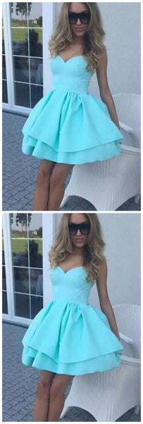 Sweetheart Blue Short Homecoming Dress S20595