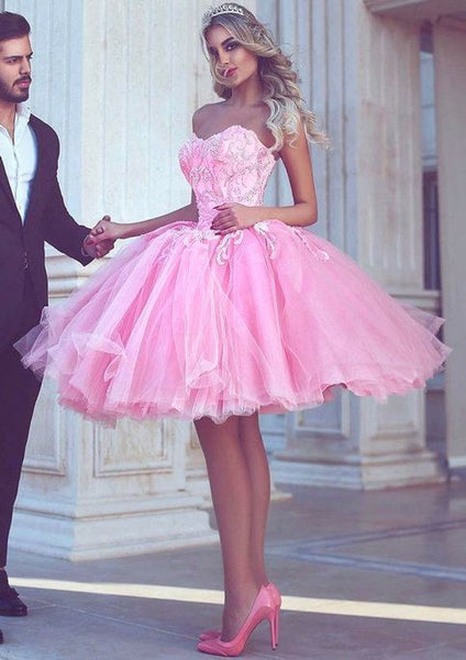 Pink Short Homecoming Dress Prom Dress S23176