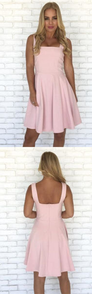Short pink homecoming dress, cheap homecoming dress S20613