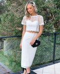 Two Piece Short Homecoming Dress , White Lace Homecoming Dress  S14057