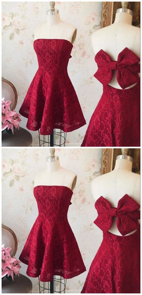 Homecoming Dresses A Line Red Short/Mini Dress S13908