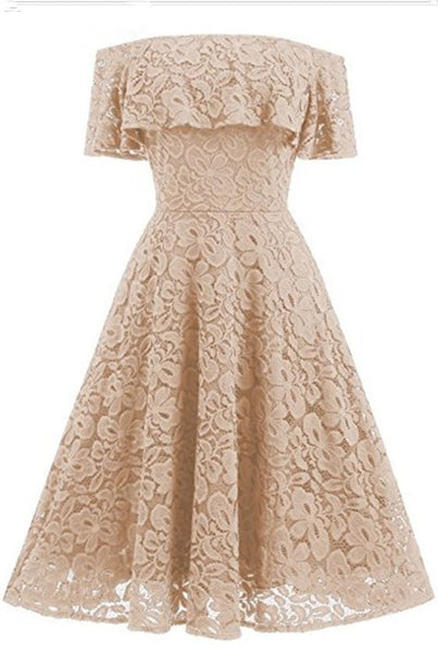 Off the shoulder lace short homecoming dress S17962