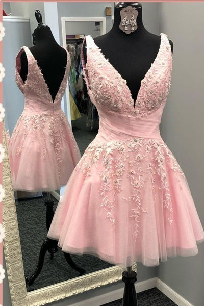 Pink Homecoming Dress S14543