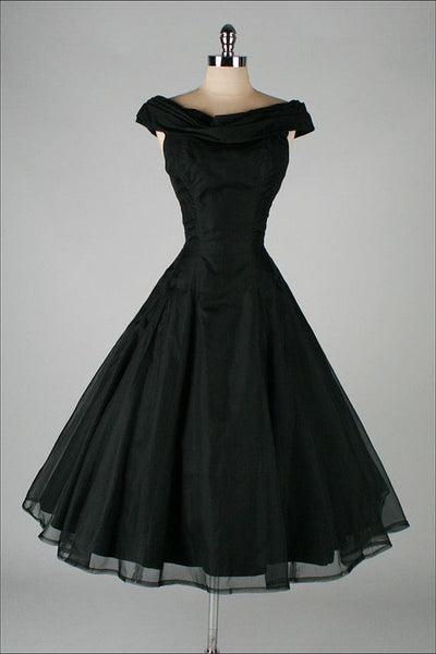 Vintage Black Short Homecoming Dress S19426