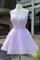cute lavender A-line short prom dress homecoming dress  S14082