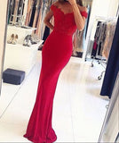 New Arrival Prom Dress,Mermaid Lace Off Shoulder Long Prom Dresses,Formal Dresses S16264