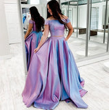 Two Piece Long Prom Dress S16593