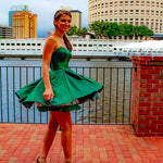 Cute green homecoming dress, sweetheart homecoming dress S20381