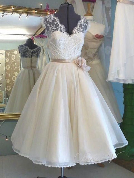 Tea Length Prom Dress,Vintage Party Dress S16753