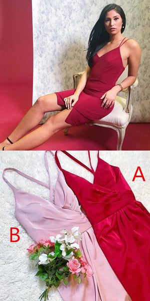 homecoming dresses, red homecoming dresses, pink homecoming dresses, cocktail dresses  S513
