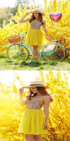 Charming A-Line Sweetheart Yellow Short Homecoming Dresses With Beading,Simple Inexpensive Homecoming Dresses S586