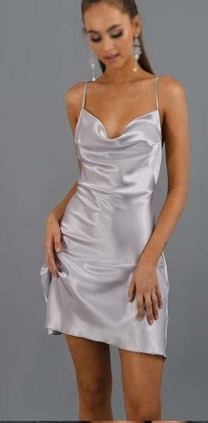 Charming Spaghetti Straps Silver Custom Simple Soft Homecoming Dresses  S6028