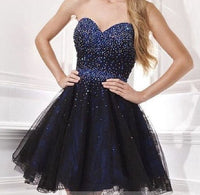 Sweetheart  Sleeveless  Homecoming Dresses  With Beading  S6079