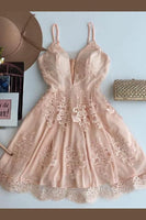 Fine A-Line Homecoming Dress, Lace Homecoming Dress  S6100