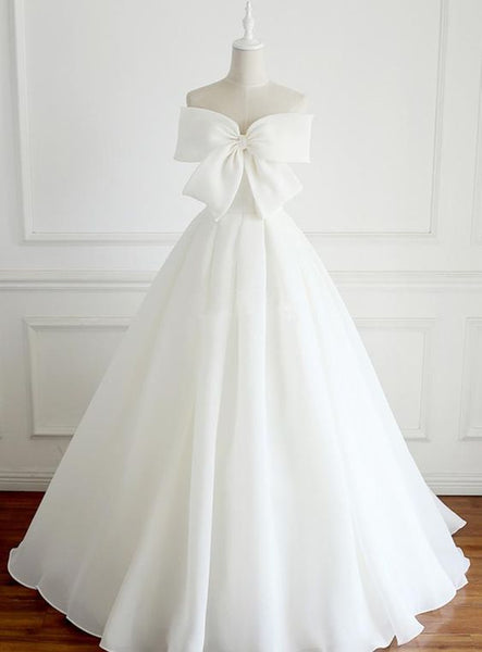 Beautiful  Prom  Dresses Strapless Ivory Organza Bowknot  S6113