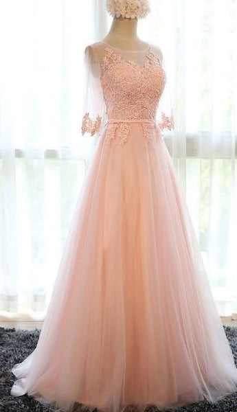 Charming Prom Dress,Tulle Prom Gown,A-Line Appliques Prom Gown  S6122