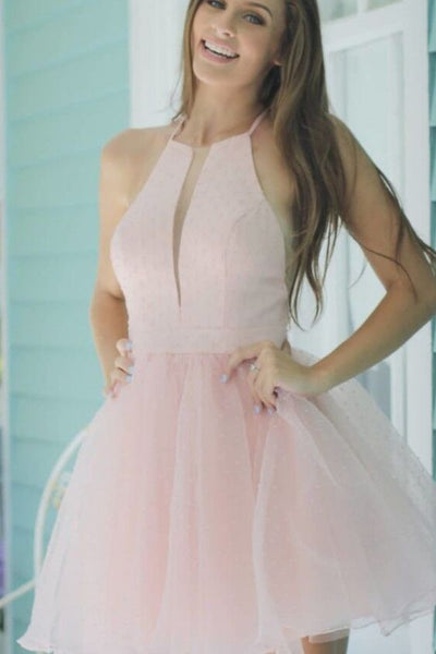 Princess Short Pink Homecoming Dress Dancing Dress  S6133