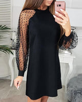 Long Sleeves  Black  Homecoming ,  Chic Homecoming  Dress  S6165