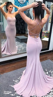 Custom Made Open Back Mermaid Evening Dress, Sexy Simple Long Prom Dresses   S6315