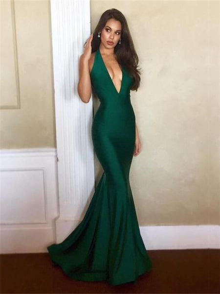 Sexy V-neck Prom Dresses, Mermaid Prom Dresses, Long Prom Dresses, Cheap Prom Dresses S6494