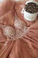 Elegant Beading Long Prom Dress ,Evening Formal Dress, Beading  Up Prom Dress  S6518
