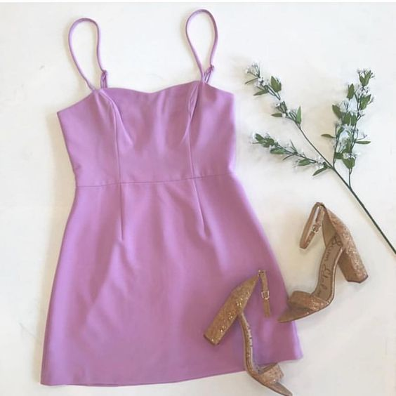 Light purple short  homecoming dress   S6565