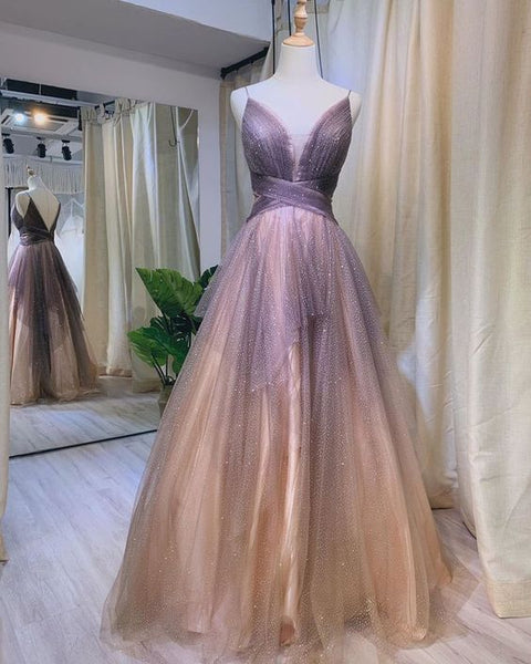 Ombre Prom Dresses, Long Prom Dress, Prom dress S12068