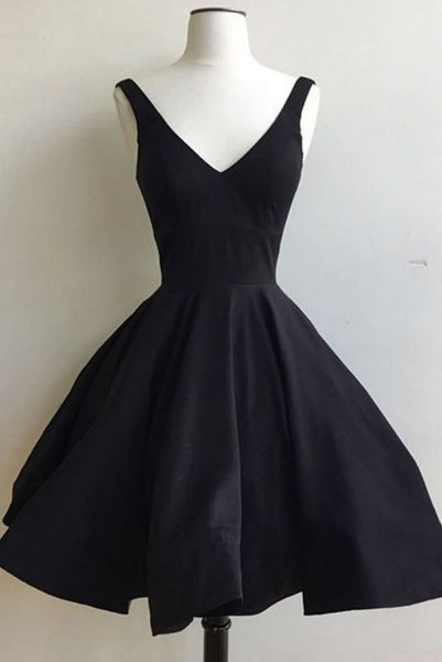Black Homecoming Dresses Lace-Up Sleeveless S11627