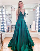 Simple Green Prom Dresses, Long Prom Dress S12069