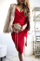 Red short homecoming dress  S6932