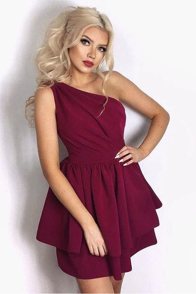 Burgundy Homecoming Dress, Back to School S10855