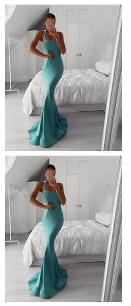 Mermaid Evening Dress Sheath Sleeveless Long Prom Dress S11140