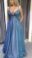 Shinning Prom Dress with Pockets Evening Dress Dance Dress  S11509