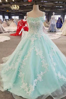 Princess Prom Dresses  Special Color  A-Line Short Train Straps Lace Up Tulle  S7257