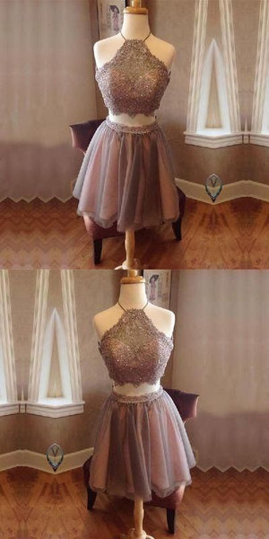Tulle Homecoming Dresses Two Piece Homecoming Dress S12181