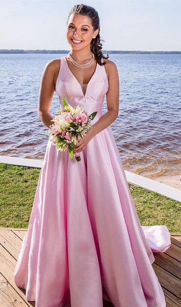 Princess V Neck Long Prom Dress S6949